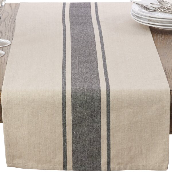 Banded Table Runner by Saro