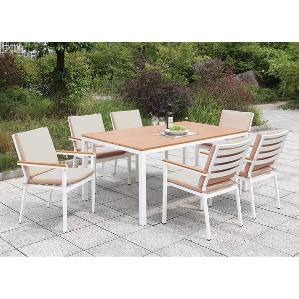 Eisenhower 7 Piece Dining Set with Cushions by Rosecliff Heights
