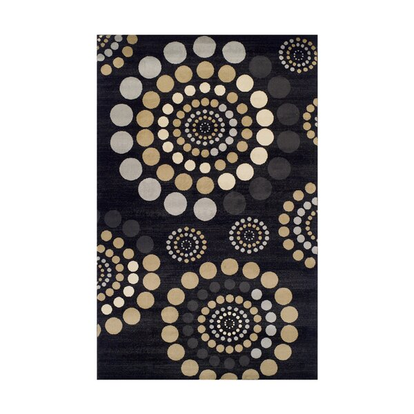 City Circle Black Area Rug by Simple Luxury