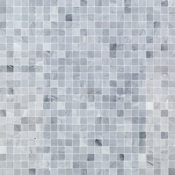 Edmond Brick Joint 0.5 x 0.5 Marble Mosaic Tile in Gray by Splashback Tile