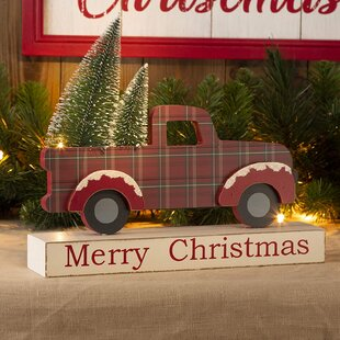 Christmas Red Truck With Tree Wayfair