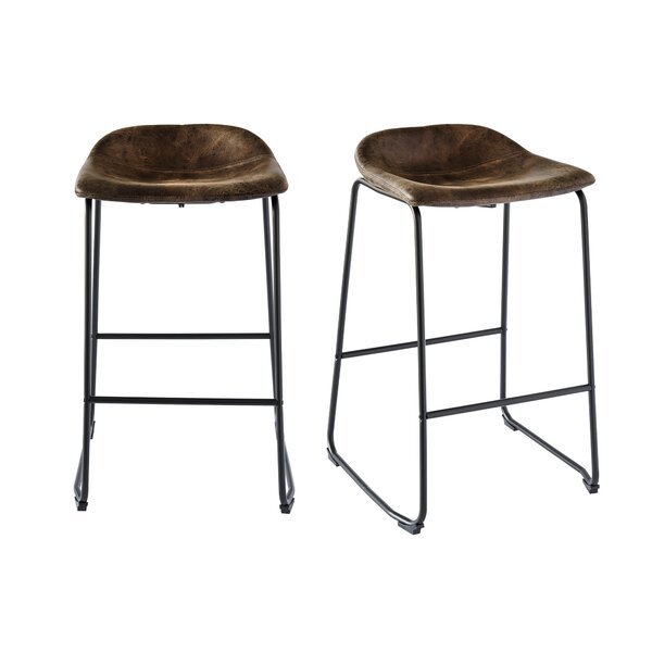 Gray 29 Bar Stool (Set of 2) by Williston ForgeGray 29 Bar Stool (Set of 2) by Williston Forge