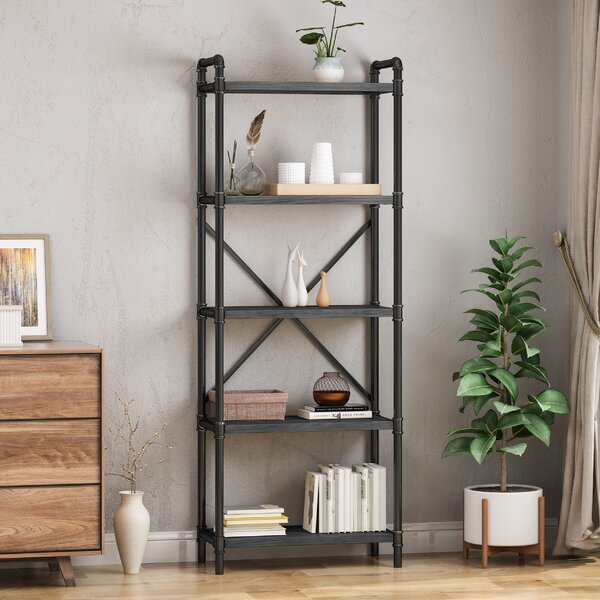 Hawkinsville Iron 5 Shelf Etagere Bookcase By 17 Stories