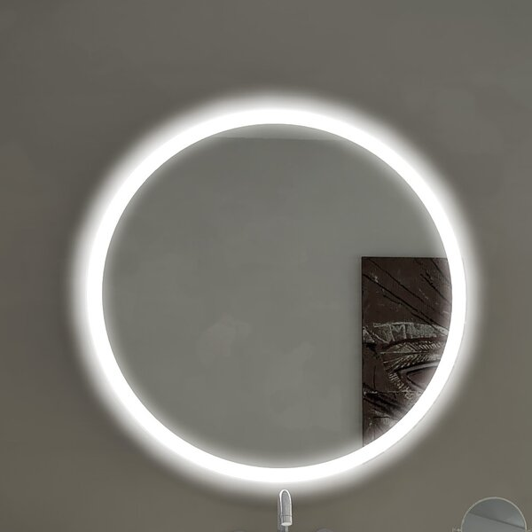 Round Backlit Bathroom/Vanity Wall Mirror by Paris Mirror