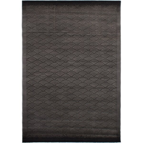 Douthit Power Loom Dark Gray/Gray Area Rug by 17 Stories