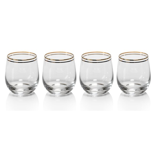 Raku Rock Cocktail Glasses (Set of 4) by Zodax
