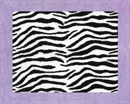 Zebra Floor Purple Area Rug by Sweet Jojo Designs