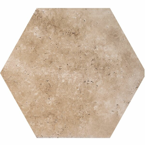 8 x 8 Travertine Field Tile in Walnut by Parvatile