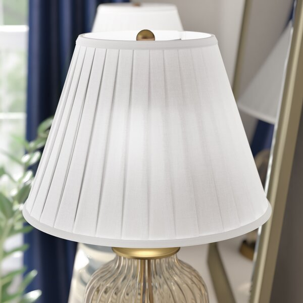 Round Box Pleat 16 Linen Bell Lamp Shade by Darby Home Co