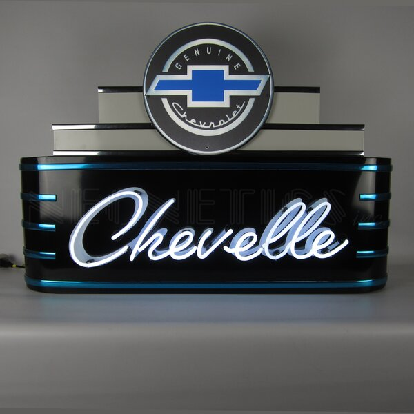 Art Deco Marquee Chevelle Neon Sign by Neonetics
