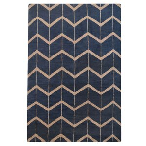 Mica Hand-Knotted Blue/Beige Area Rug