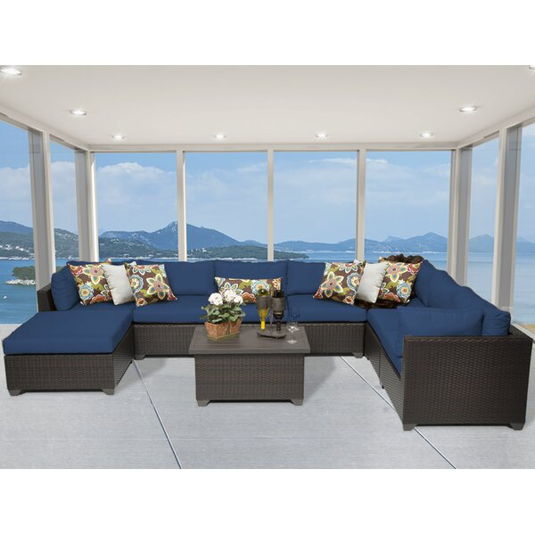 Medley 9 Piece Sectional Seating Group with Cushions by Rosecliff Heights