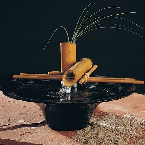 Ceramic Nature Bowl Small Tabletop Fountain by Nayer Kazemi