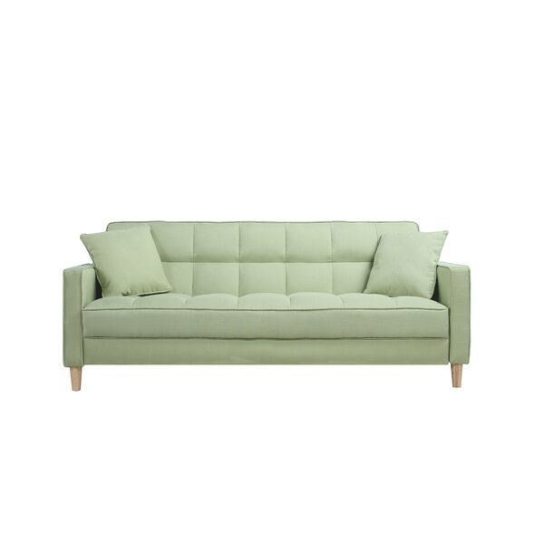 Modern Linen Fabric Tufted Small Space Sofa by Madison Home USA