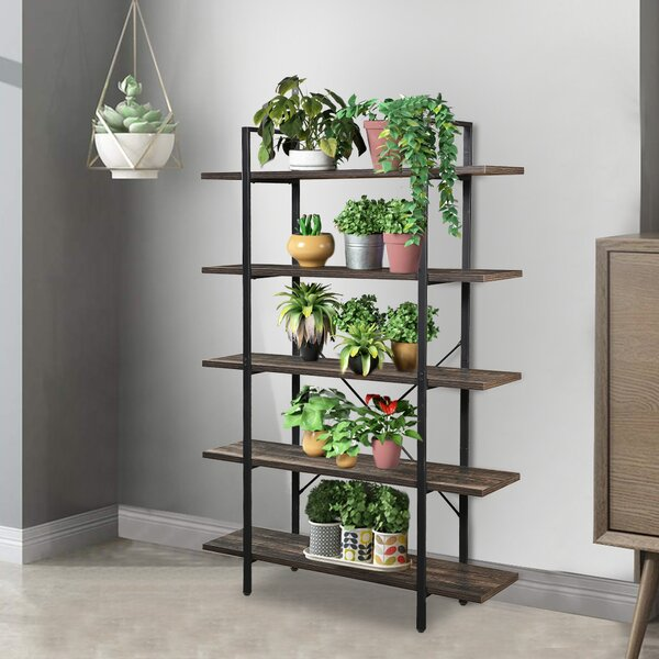 Luz 5-Tier Industrial Style Etagere Bookcase By Gracie Oaks