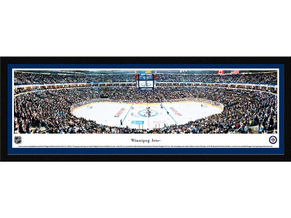 NHL Winnipeg Jets - Center Ice Framed Photographic Print by Blakeway Worldwide Panoramas, Inc