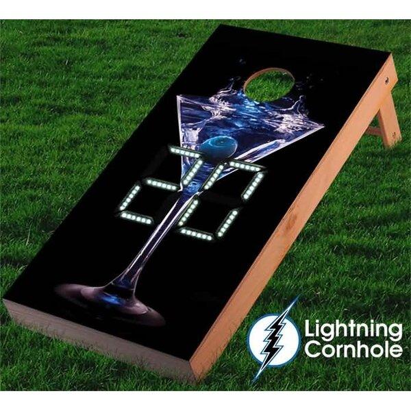 Electronic Scoring Martini Cornhole Board by Lightning Cornhole