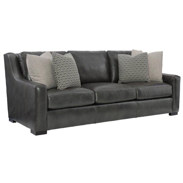 Germain Leather Sofa By Bernhardt