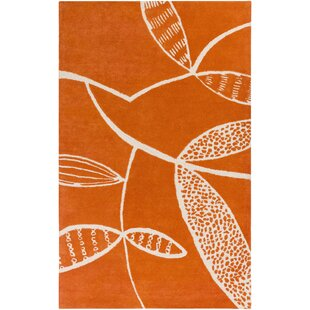 Reviews Decorativa Hand-Tufted Orange/Neutral Area Rug By Lotta Jansdotter