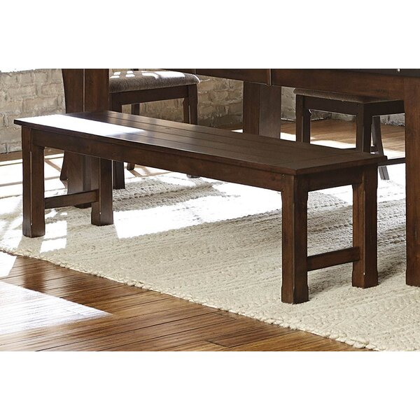 Rachel Wooden Dining Side Bench by Millwood Pines