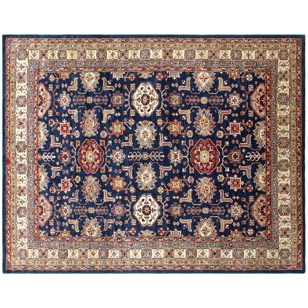 One-of-a-Kind Bronzewood Hand-Knotted Blue Area Rug by Isabelline