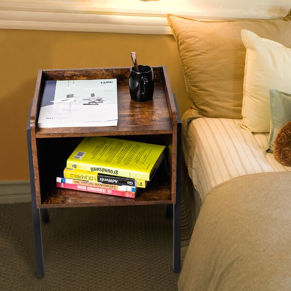 Discount Hobart Tray Top End Table With Storage