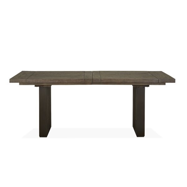 Norah Extendable Solid Wood Dining Table by Foundry Select