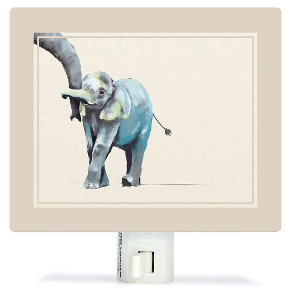Non-Personalized You And Me Elephant Canvas Night Light by Oopsy Daisy