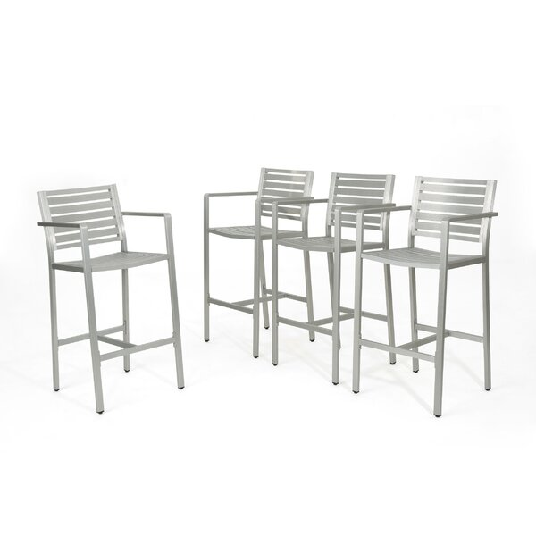 Risager Outdoor 29 Patio Bar Stool (Set of 4) by Latitude Run