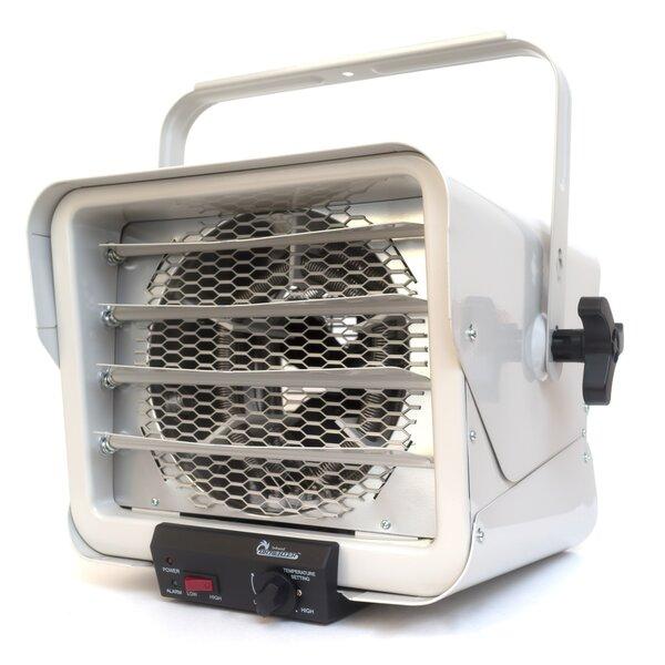 6,000 Watt Wall Mounted Electric Fan Utility Heater By Dr. Infrared Heater