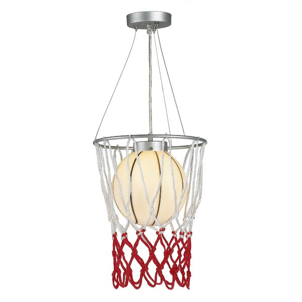 Kinkead Childrens Basketball 1-Light Novelty Pendant by Zoomie Kids
