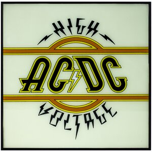 AC/DC 'High Voltage' Framed Textual Art by East Urban Home