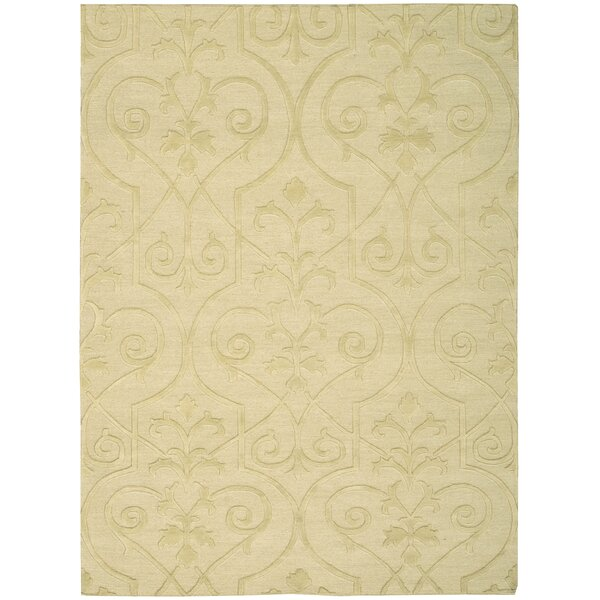 Cedarwood Hand-Woven Straw Area Rug by Darby Home Co