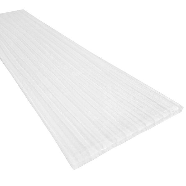 Monroe 4 x 16 Glass Wood Look/Field Tile in White by Abolos