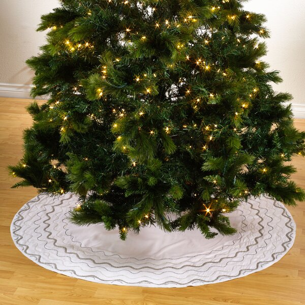 Sparkling Holiday Tree Skirt by Saro