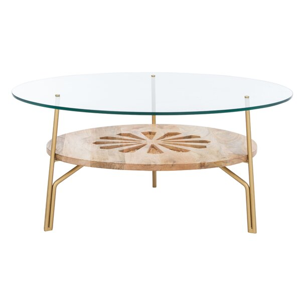 3 Legs Coffee Table With Storage By Everly Quinn