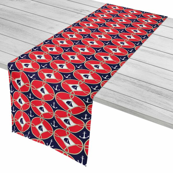 Nautical Sailboats and Anchors Table Runner by Island Girl Home