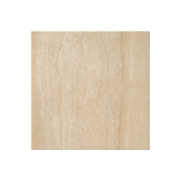 Travertini 16.75 x 16.75 Porcelain Field Tile in Polished Cream by Samson