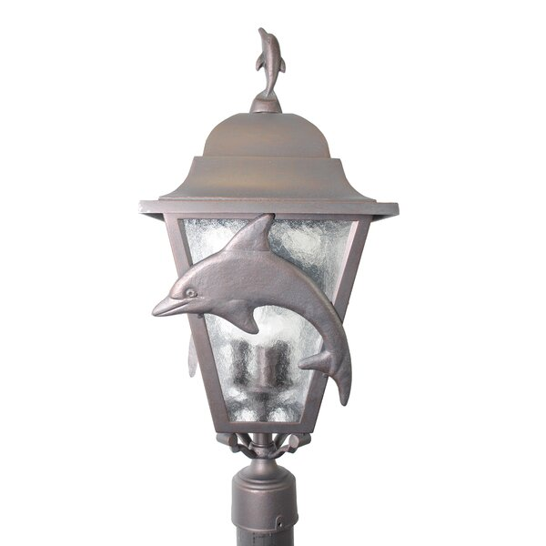 Penfield Dolphin Series 3 Light 31 Post Lantern by Alcott Hill