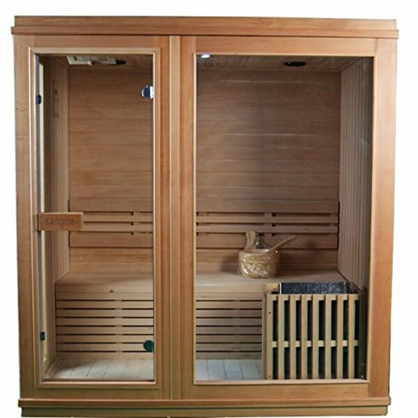 Canadian Hemlock 6 Person Steam (traditional) Sauna by ALEKO