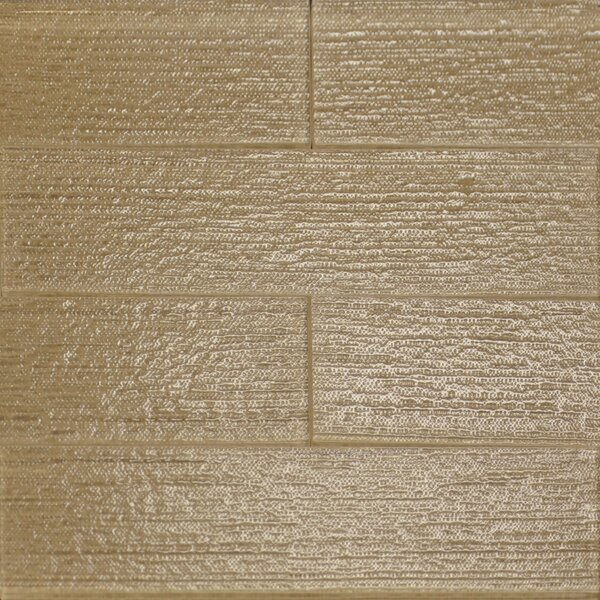 Linen Textured 3 x 12 Glass Subway Tile in Wheat by The Bella Collection