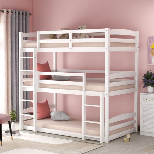 Villani Twin Over Twin Over Twin Triple Bed by Red Barrel Studio