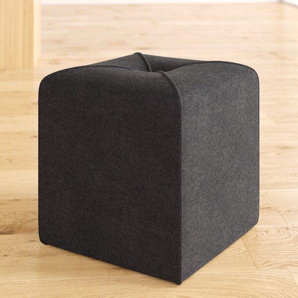 Cassella Tufted Cube Ottoman by Ebern Designs