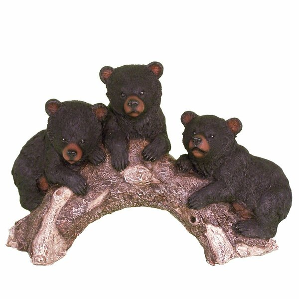 Atkins Bears on a Log Figurine by Millwood Pines