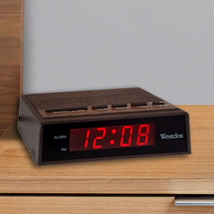 Electric LED Alarm Clock by Westclox Clocks