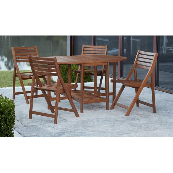 Sasha Outdoor 5 Piece Dining Set by Millwood Pines