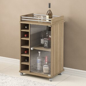 Kayleigh Glass Door Bar Cart by Zipcode Design