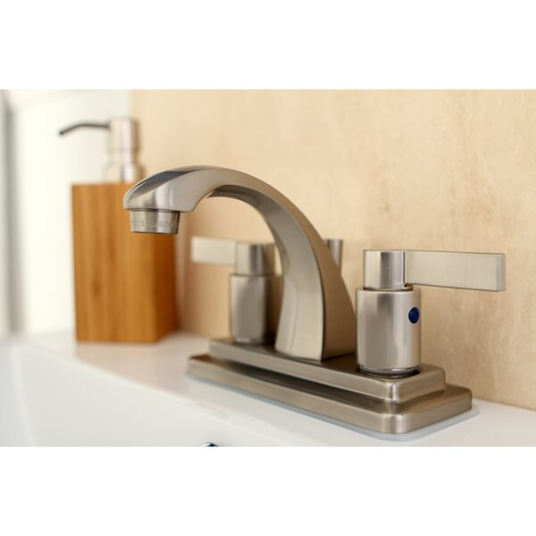 NuvoFusion Centerset Bathroom Faucet with Pop-Up Drain by Kingston Brass