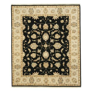 Savings Hand-Knotted Black Area Rug By Eastern Rugs