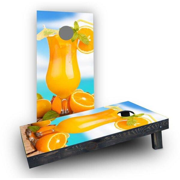 Orange Drink Cornhole Boards (Set of 2) by Custom Cornhole Boards